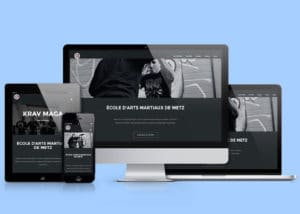Création du site web école d'arts martiaux de Metz