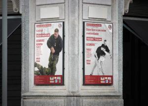 Visuel affiche école d'arts martiaux de Metz