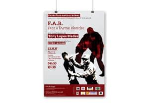 affiche stage école d'arts martiaux de Metz