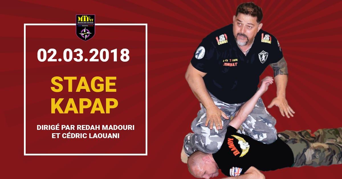 Bannière Facebook - Stage KAPAP - Club Défense Combat 84 - Le Thor - Proche Avignon