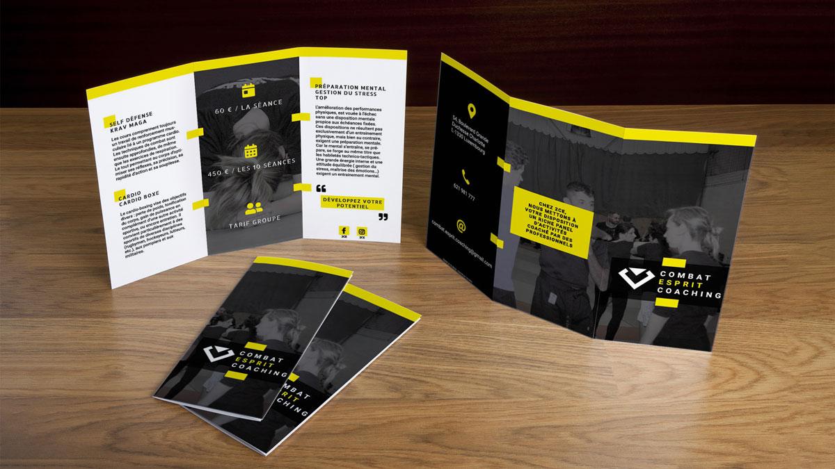 Création de la brochure 2CE - Luxembourg et Grand Est