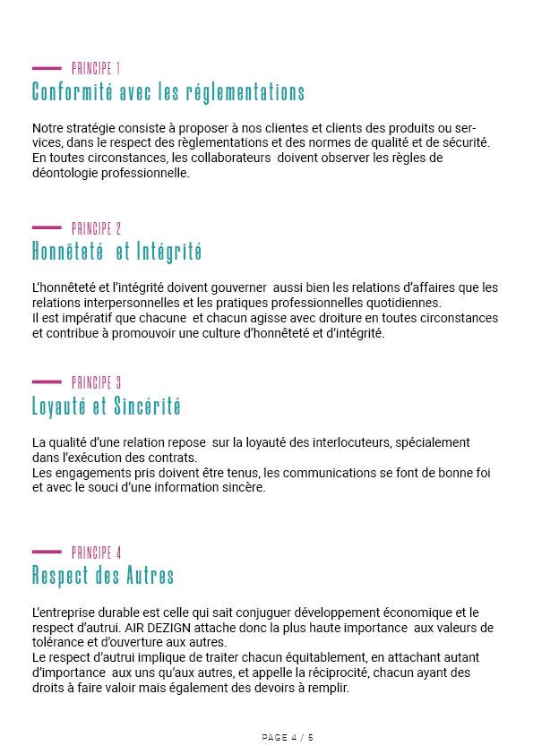 Charte éthique Air Dezign 5