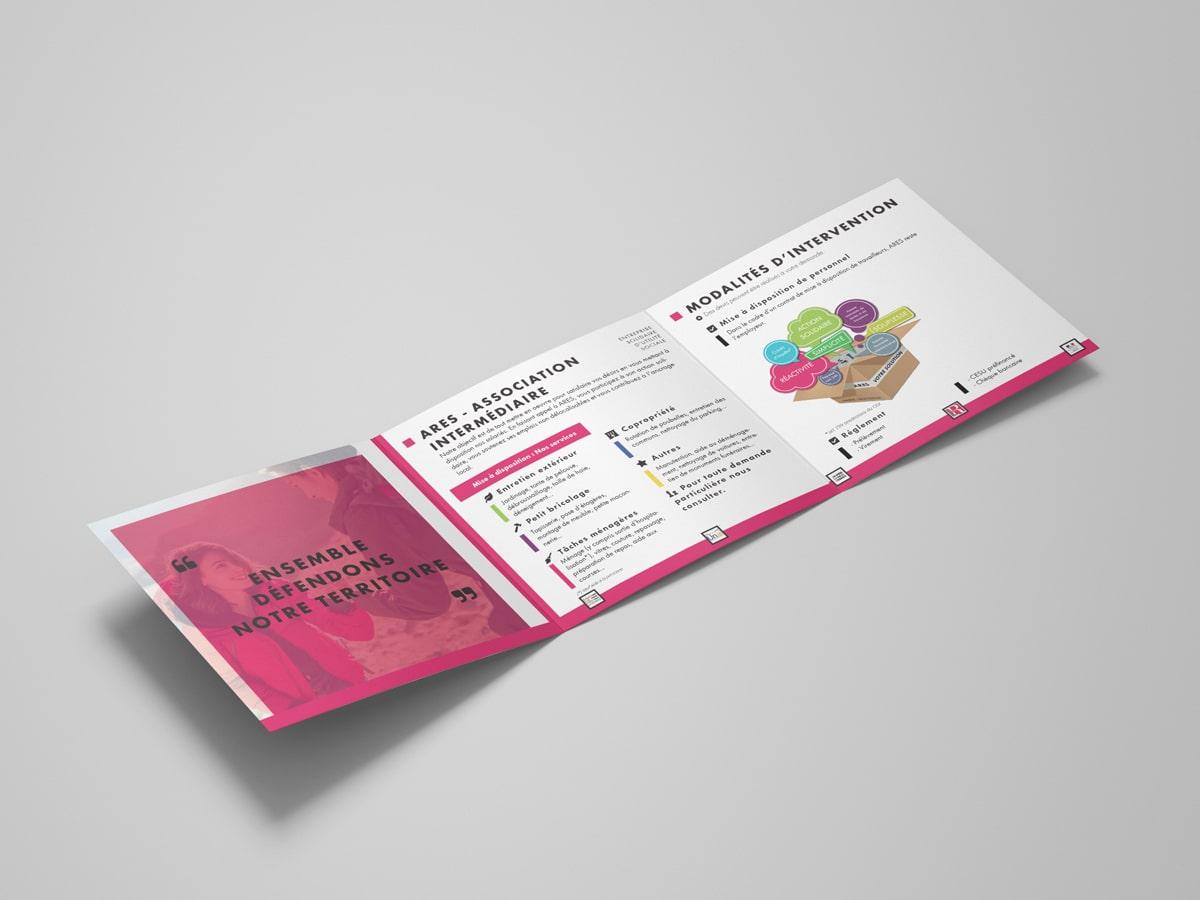 Création de plaquette de communication ARES - Remiremont - Vosges (1)
