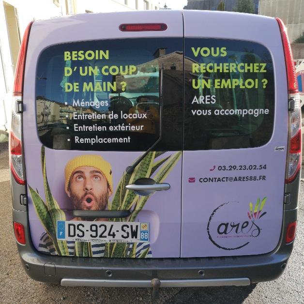 Covering ARES Vosges réalisé par Air Dezign - Rupt sur Moselle