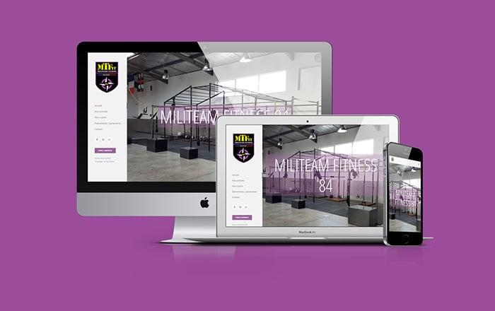 création du site internet de militeam fitness-2