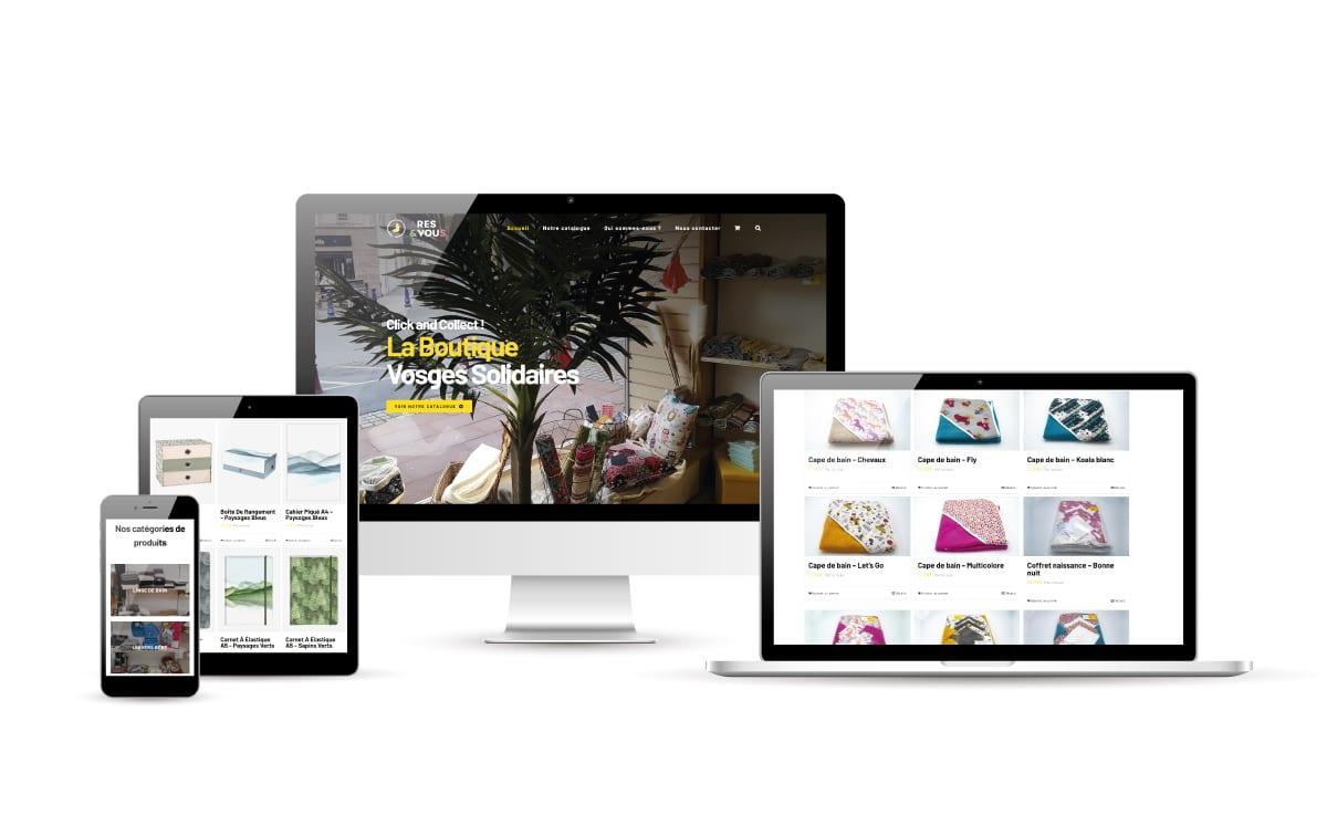 Création de site e-commerce dans les Vosges - ARES & VOUS