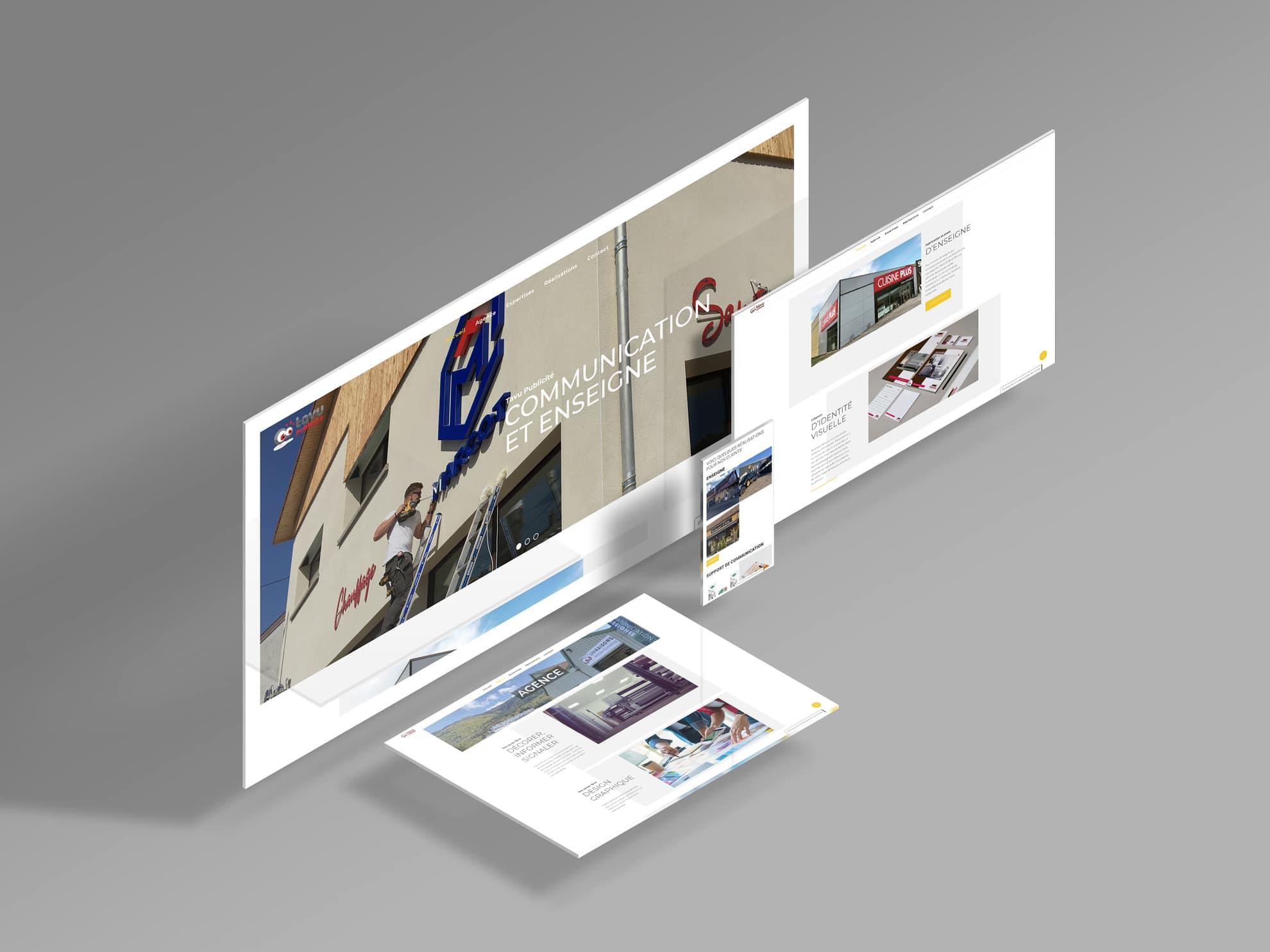 Création du site internet de TAVU Publicité dans les Vosges (88)