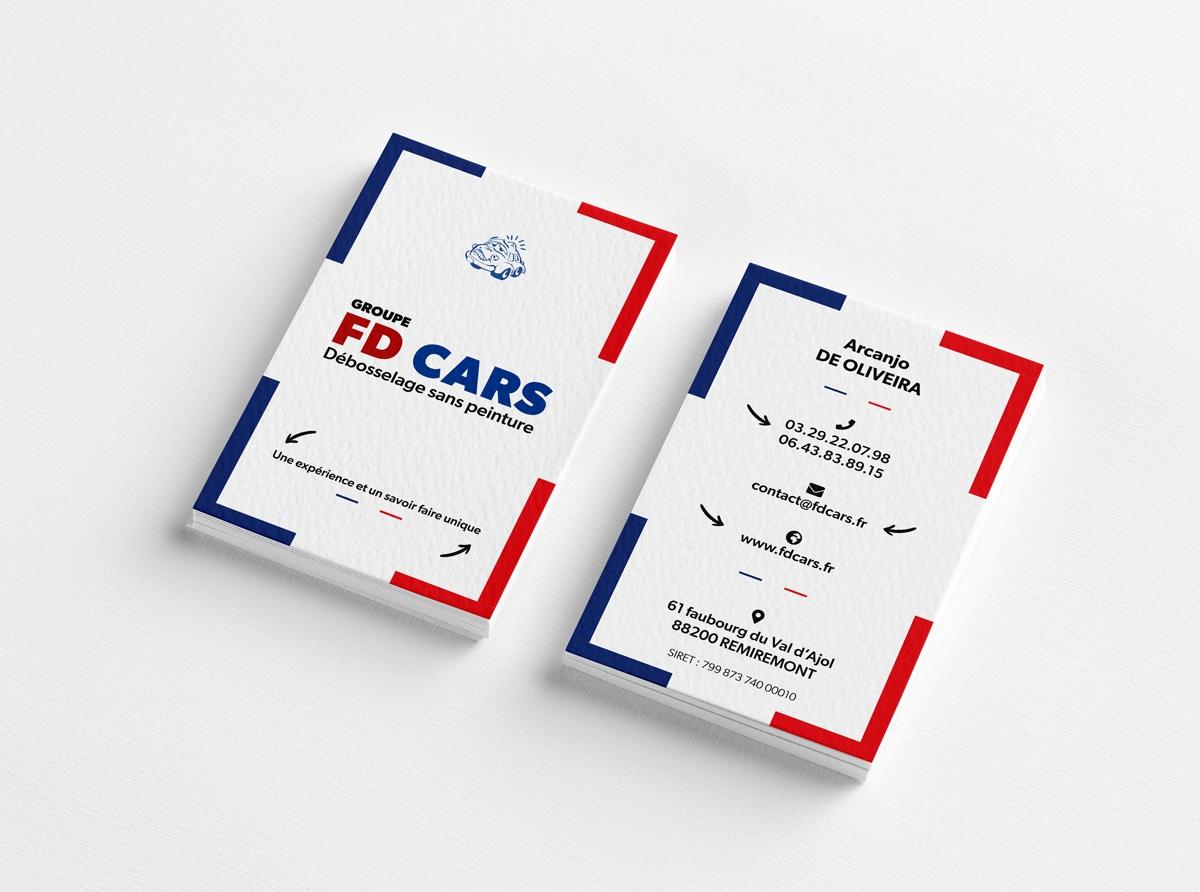 Création de la carte de visite de FD CARS -Remiremont - Vosges